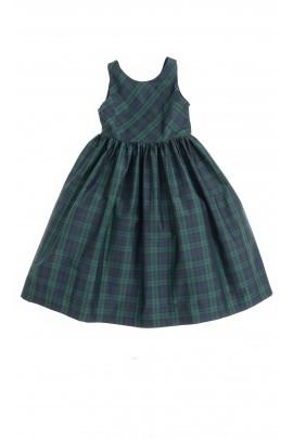 Sukienka w zielono-granatową kratę, Polo Ralph Lauren