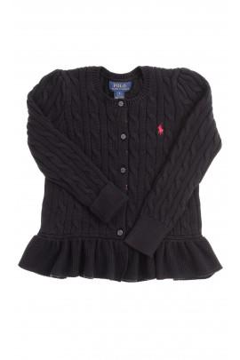 Czarny sweter rozpinany, Polo Ralph Lauren