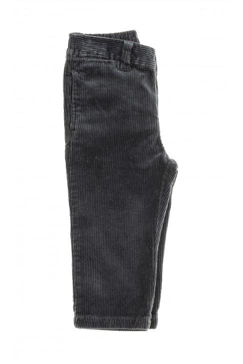 Grafitowe spodnie sztruksowe, Polo Ralph Lauren