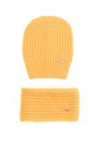 Żółty komplet czapka z szalikiem, Aston Martin