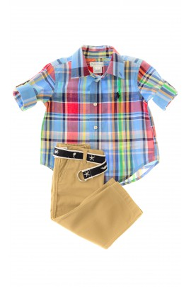 Komplet chłopięcy koszula i spodnie, Ralph Lauren