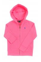 Różowa bluza dresowa dziewczęca, Polo Ralph Lauren
