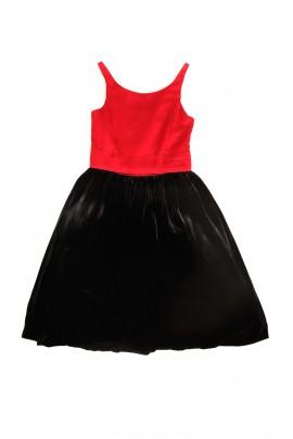 Czerwono czarna sukienka, Polo Ralph Lauren