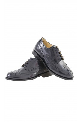 Pantofle sznurowane granatowe, Gallucci