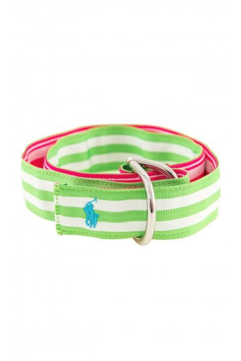 Różowo-zielony pasek dziewczęcy, Polo Raph Lauren