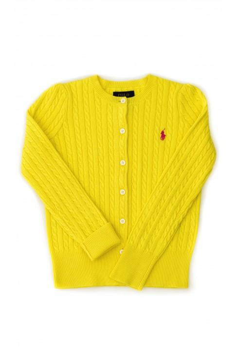 Cytrynowy sweter dziewczęcy, Polo Ralph Lauren