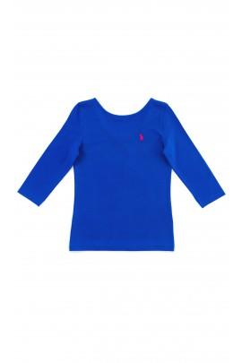 Szafirowy t-shirt dziewczęcy, Polo Ralph Lauren