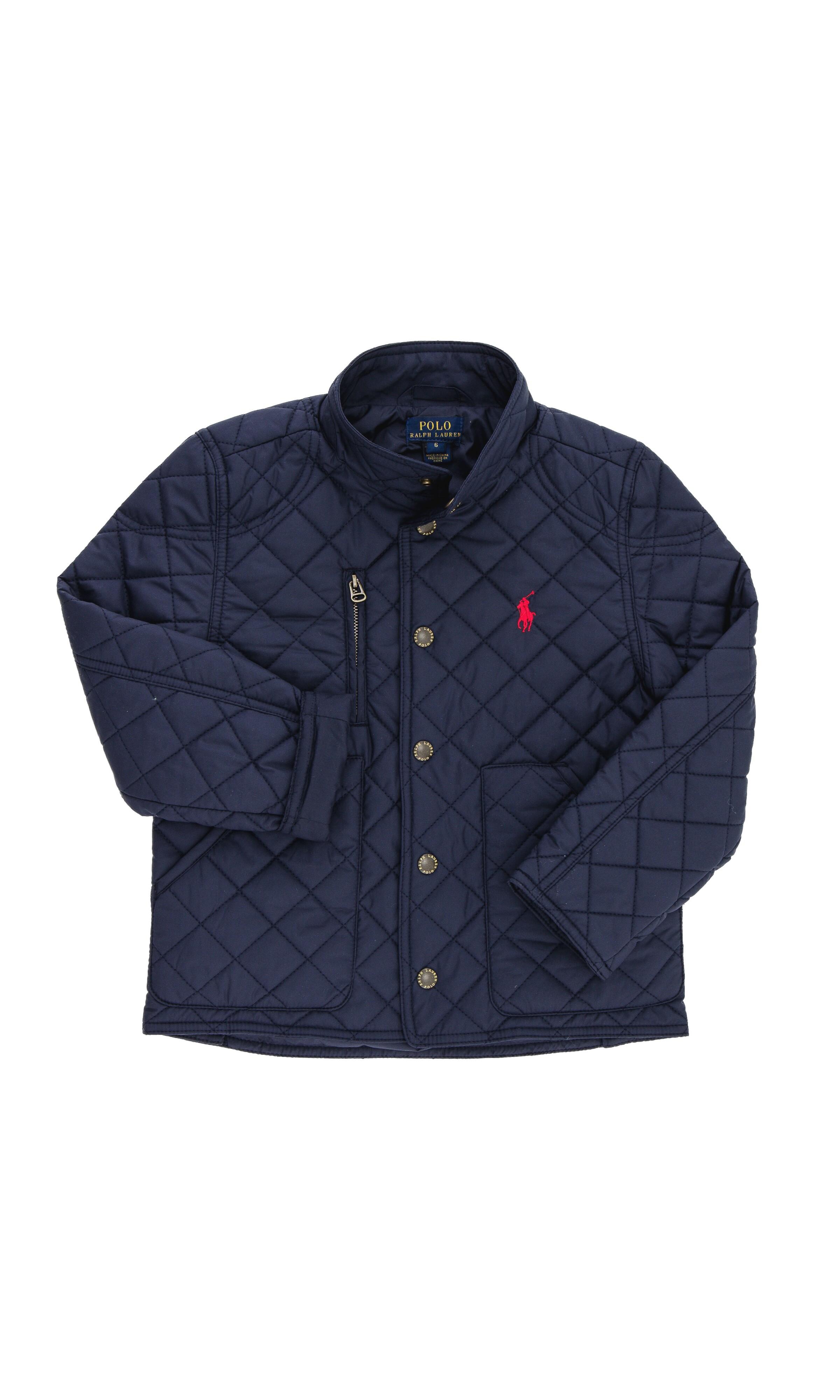 806c8b8a1e784 Granatowa pikowana kurtka, Polo Ralph Lauren - Celebrity-Club