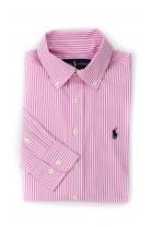 Koszula chłopięca różowa w paski, Polo Ralph Lauren