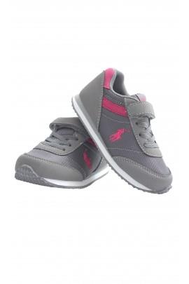 Szaro-różowe buty sportowe, Polo Ralph Lauren