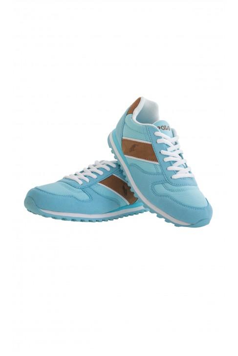 Turkusowo-brązowe buty sportowe Polo Ralph Luren