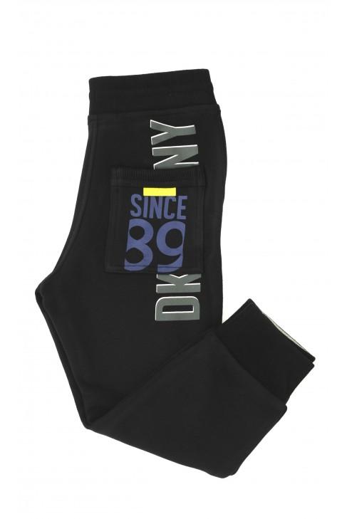 Czarne spodnie dresowe, DKNY
