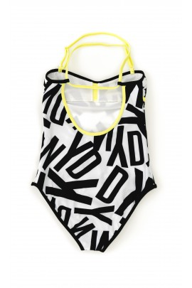 Biało-czarny jednoczęściowy skrój kąpielowy, DKNY