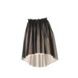 Black tulle skirt, Une fille today I am