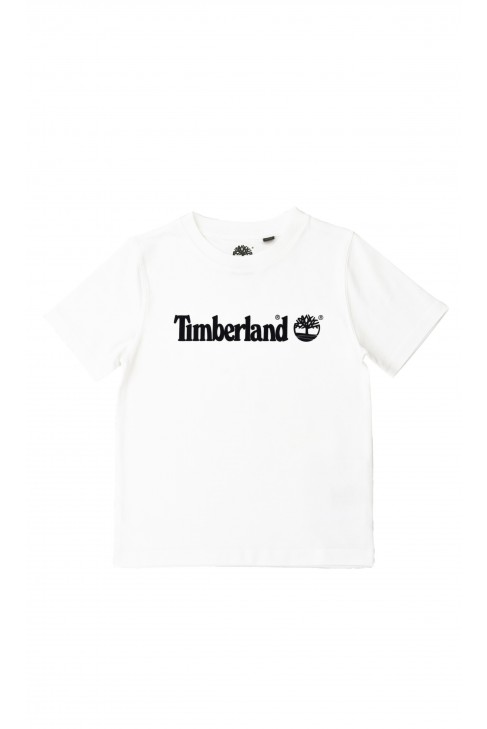 Biały t-shirt z krótkim rękawem, Timberland