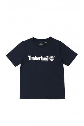 Granatowy t-shirt  chłopięcy, Timberland