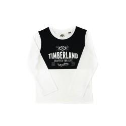 Biało-granatowy t-shirt z długim rękawem, Timberland