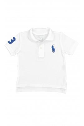 Białe polo z niebieskim konikiem, Polo Ralph Lauren