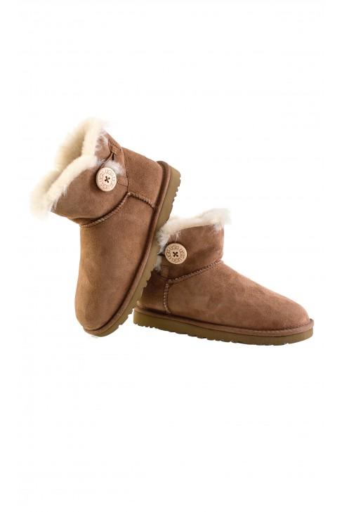 Buty brązowe W MINI BAILEY BUTTON, UGG