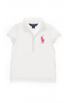 Biała polówka dziewczęca, Polo Ralph Lauren