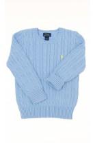 Niebieski sweter splot warkoczowy, Polo Ralph Lauren