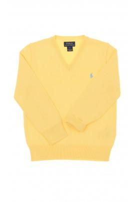 Żółty sweter chłopięcy, Polo Ralph Lauren