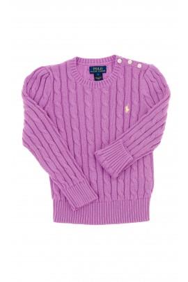 Fioletowy sweter dziewczęcy, Polo Ralph Lauren