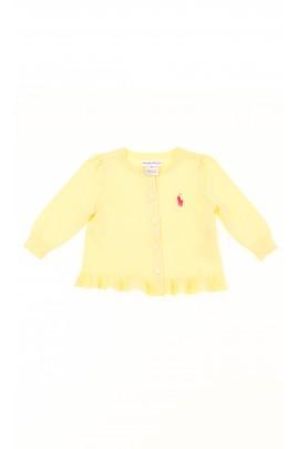 Żółty sweter niemowlęcy, Polo Ralph Lauren
