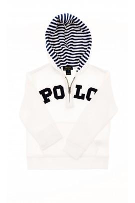 Biała bluza z kapturem, Polo Ralph Lauren