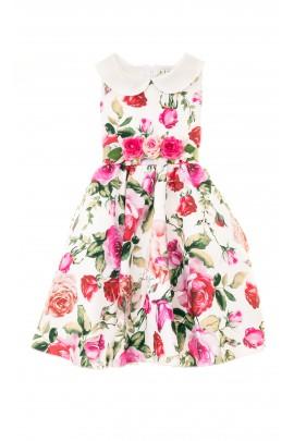 Sukienka letnia w kolorowe róże, Lesy