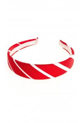Przepaska w czerwono-białe paski Colorichiari