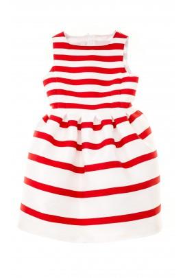Sukienka w czerwono-białe poziome pasy, Colorichiari