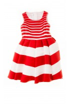 Sukienka w szerokie czerwono-białe pasy, Colorichiari