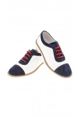 Pantofle chłopięce granatowo-białe, Colorichiari