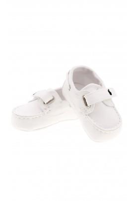 Białe mokasynki niemowlęce, Polo Ralph Lauren