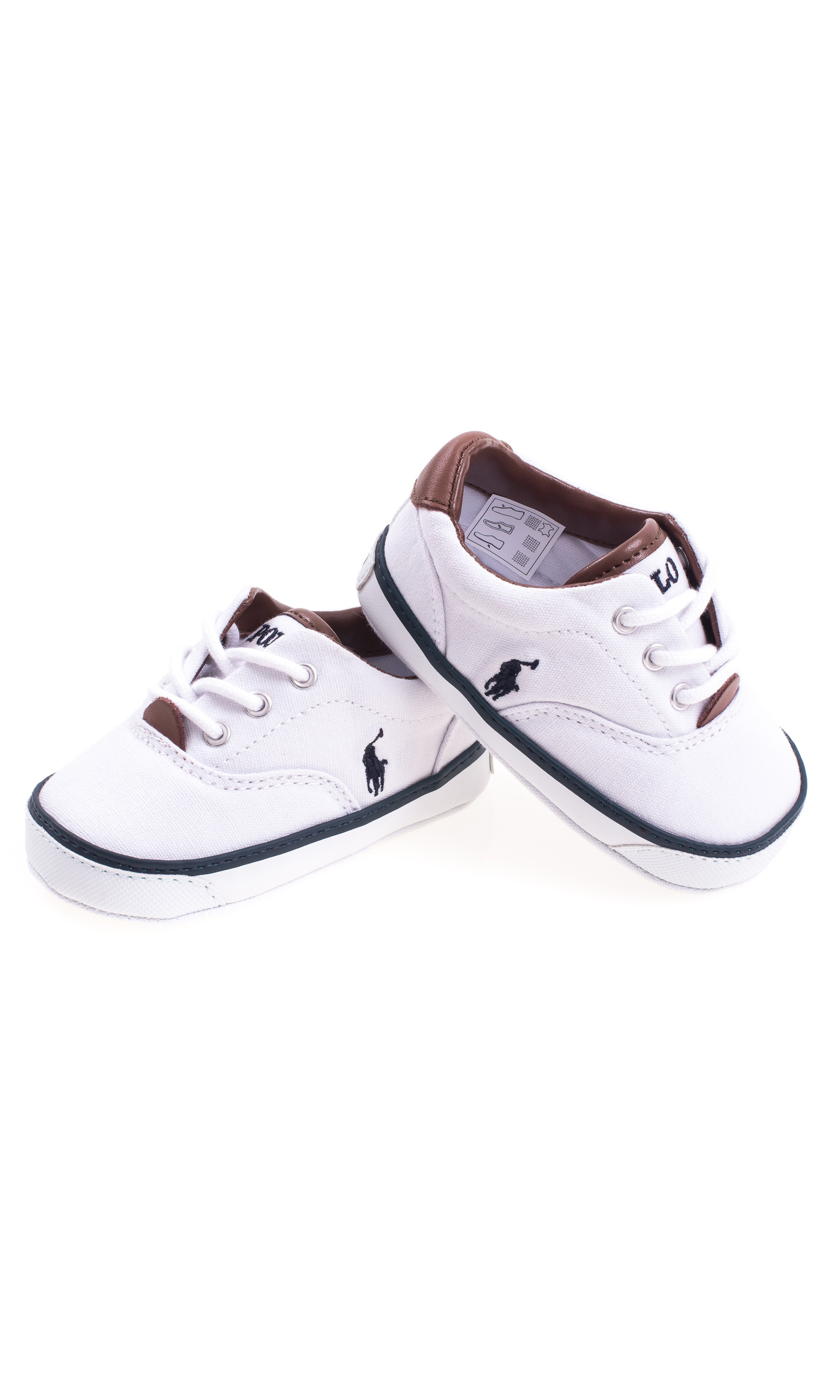 White Baby Shoes Polo Ralph Lauren Celebrity Club