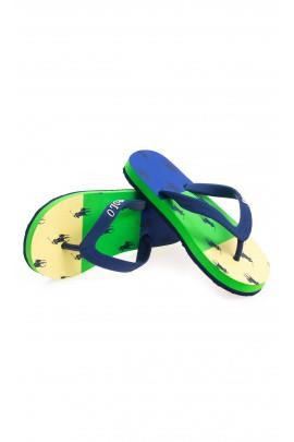 Żółto-zielono-niebieskie japonki, Polo Ralph Lauren
