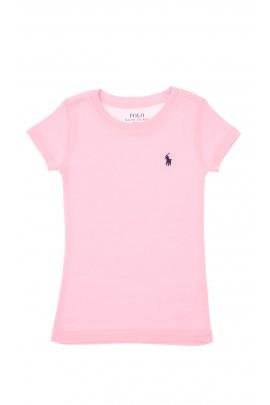 Jasno-różowy t-shirt dziewczęcy, Polo Ralph Lauren