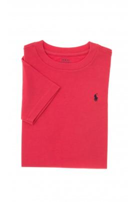 Malinowy t-shirt chłopięcy, Polo Ralph Lauren