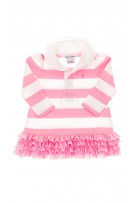 Sukienka w różowo-białe pasy, Polo Ralph Lauren