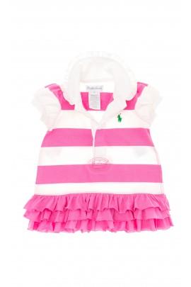 Sukienka w ciemno-różowe pasy, Polo Ralph Lauren