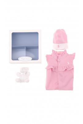 Komplet różowy niemowlęcy, Polo Ralph Lauren