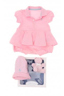 Różowy rampers dziewczęcy, Polo Ralph Lauren