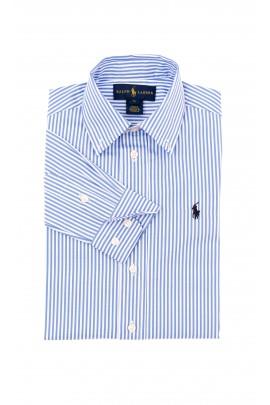 Koszula chłopięca w biało-niebieskie paski, Polo Ralph Lauren