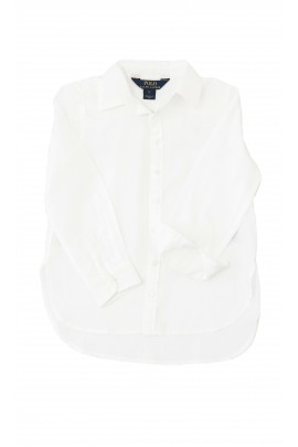 Biała bluzka koszulowa, Polo Ralph Lauren