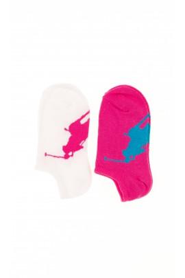 Różowe skarpetki dziewczęce, Polo Ralph Lauren