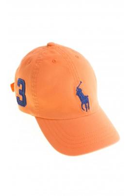 Pomarańczowa czapka chłopięca, Polo Ralph Lauren
