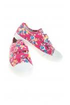 Różowe tenisówki dziewczęce w kolorowe kwiaty, Polo Ralph Lauren