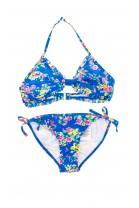 Niebieski strój kąpielowy w kwiaty Polo Ralph Lauren