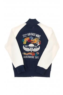Biało-granatowa bluza chłopięca, Polo Ralph Lauren